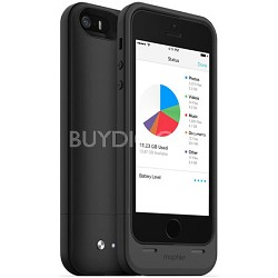 Space Pack Battery Case - Apple iPhone 5/5S, 1700mAh, 16GB Storage - Black