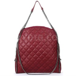 TOTES Quilted Tote Bag - Wine
