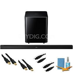 2.1 Channel Wireless High-Definition Audio Soundbar (Black) - HW-H550