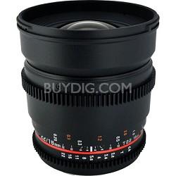 CV16M-MFT 16mm T2.2 Cine Wide Angle Lens for Micro 4/3 Olympus/Panasonic Cameras