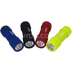 41-4241 Weather Resistant LED Flashlight with Lanyard - 4-Pack, Assorted Colors