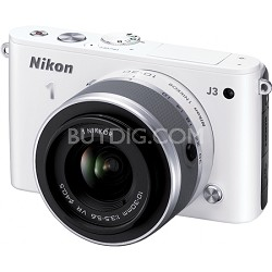 1 J3 14.2MP White Digital Camera with 10-30mm VR Lens