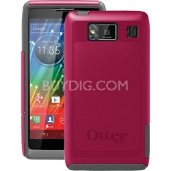 Commuter Series Case for Motorola RAZR HD - Retail Packaging - Thermal Pink/Gray