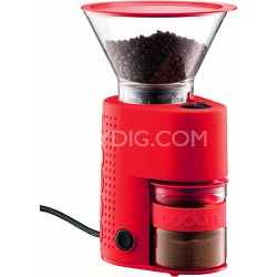 Bistro Electric Burr Coffee Grinder - Red