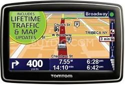 "TomTom XL 340TM 4.3"" Portable GPS Navigator Lifetime Traffic & Map updates"