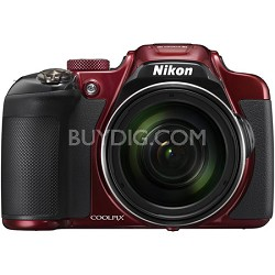 COOLPIX P610 16MP 60x Super Zoom Digital Camera Full HD Video, WiFi, GPS - Red