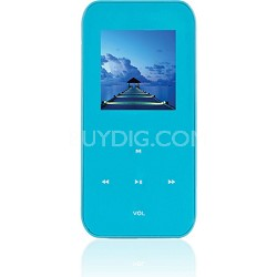 "4 GB MP3 Video Player with 1.5"" LCD, FM Radio, Recorder (Teal)"