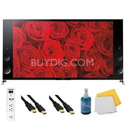 "65"" 120Hz 3D LED X900B Premium 4K Ultra HD TV Plus Hook-Up Bundle - XBR65X900B"