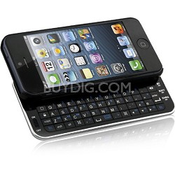 N5200 Ultra-Thin Bluetooth Slideout Keyboard for Apple iPhone 5 - Black