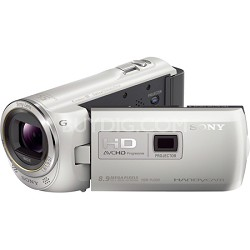 HDR-PJ380/W 16GB Full HD Camcorder with Projector (White) - OPEN BOX