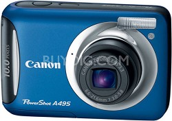 PowerShot A495 10 Mega Pixel with 3.3x Optical Zoom Digital Camera (Blue)