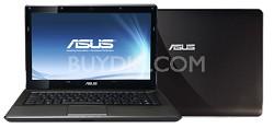 K42JR-A1 Core i5 430M, 14-inch Notebook - Dark Brown