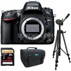 D600 24.3 MP CMOS FX-Format Digital SLR Camera (Body Only) Bundle Deal