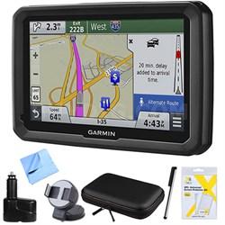 "dezl 570LMT 5"" Truck GPS Navigation Lifetime Maps/Traffic Dashboard Mount Bundle"