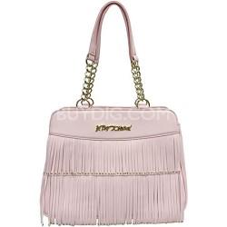 Blush Color Fringe Bag