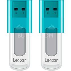 8 GB JumpDrive High Speed USB Flash Drive (Blue) 2-Pack (16GB Total)