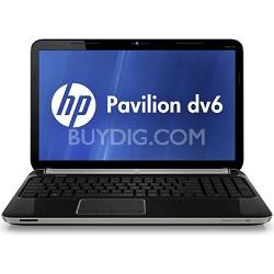"""Pavilion 15.6"""" DV6-6110US Entertainment Notebook PC - AMD Quad-Core A6-3400M"""