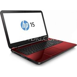 """15-g073nr 15.6"""" HD Red Notebook PC - AMD Quad-Core A6-6310 APU Processor"""