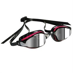 K180 Lady Swim Goggles with Mirrored Lens and Pink/Black Frame - 173550