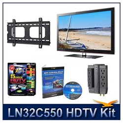 LN32C550 HDTV + Hook-up Kit + Power Protection + Calibration + Flat Mount