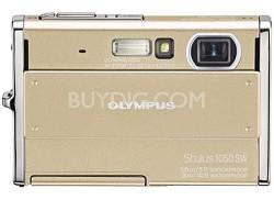 Stylus 1050SW 10MP Shockproof Waterproof Digital Camera Champagne - REFURBISHED