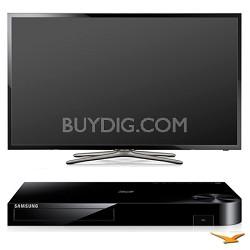 "PN60F5500 60"" 1080p 3D WiFi Plasma Smart HDTV and Blu-ray Bundle"