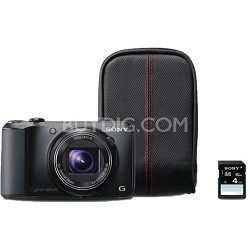 Cyber-shot DSC-H90 16.1 MP 16x Optical Zoom HD BUNDLE(Black) - OPEN BOX
