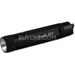 E01 Black Finish LED Flashlight