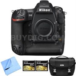 D5 20.8MP FX-Format Digital SLR Camera Body (CF) 64GB Memory Card 2-Pack Bundle