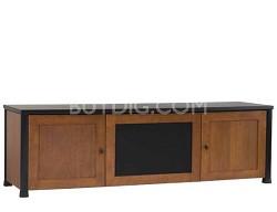 """CFV69 - Lowboy 3-Shelf Cabinet for AV Equipment & TVs up to 75"""" (Cherry/Black)"""