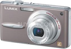DMC-FX30T Lumix 7.2 mega-pixel Digital Camera (Taupe/Brown)