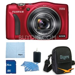 FinePix F750EXR 16MP EXR CMOS Digital Camera 4 GB Bundle (Red)