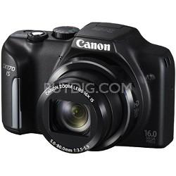 PowerShot SX170 IS 16MP Digital Camera with 16X Optical Zoom - Black