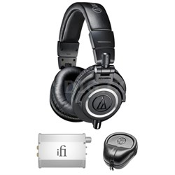 Professional Studio Headphones - ATH-M50x w/ iFi Audio Port. Amp. Bundle