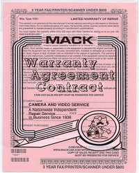 Extended Warranty Certificate for Scanners