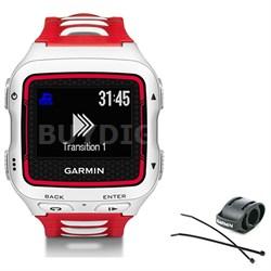 Forerunner 920XT Multisport GPS Watch - White/Red + Bike Mount Kit