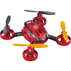 Radio Controlled Aircraft Drone with Built In Camera (Red) - QR-12 CAM 2GB