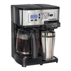Refurbished 2-Way FlexBrew 12-Cup Coffeemaker and K-Cup Single Serve Brewer