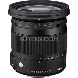 17-70mm F2.8-4 DC Macro OS HSM Lens for Canon Mount Digital SLR Cameras OPEN BOX