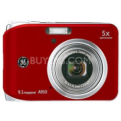 "A950 9.1MP 2.5"" LCD 5x Zoom Digital Camera (Red)"