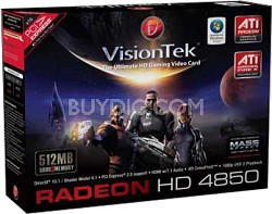 RADEON HD4850 PCIE 2PORT DVI VGA 512MB 450W REQ
