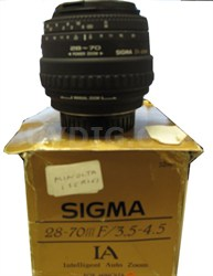 28-70mm F3.5-4.5 Lens for Minolta Camera - OPEN BOX