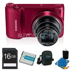 WB800F 16.3 MP Smart Camera with Built-in Wi-Fi Red 16GB Kit