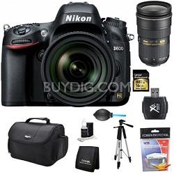 D600 24.3 MP CMOS FX-Format Digital SLR Camera w/ 24-85mm and 24-70mm Lens Kit