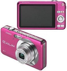 """Exilim EX-Z80 8.1MP Digital Camera with 2.6"""" LCD (Vivid Pink)"""