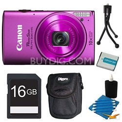 Powershot ELPH 330 HS Pink Digital Camera 16GB Bundle