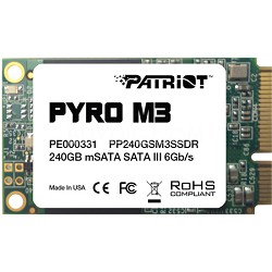 Pyro M3 240GB mSATA Internal Solid State Hard Drive
