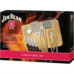 22-Piece Outdoor BBQ Deluxe Food Prep & Serve Grilling Set