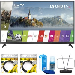 """49"""" Super UHD 4K HDR Smart LED TV 2017 Model 49UJ6300 with Cleaning Bundle"""