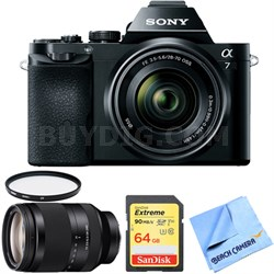 a7K Full-Frame Mirrorless Camera with FE 28-70mm Lens 24-240mm Zoom Lens Bundle